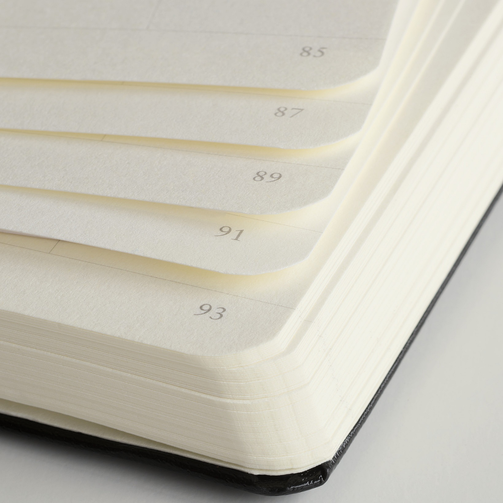 ruled or lined numbered pages