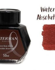 Waterman Fountain Pen Ink Absolute Brown 50ml Bottle