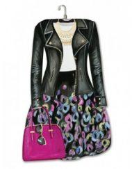 Lady Jayne Modern Diva Dress Die-Cut Note Pad - Leather Jacket