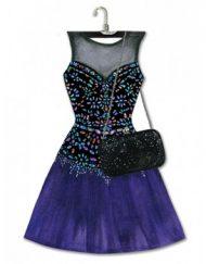 Lady Jayne Modern Diva Dress Die-Cut Note Pad - Bead Gem