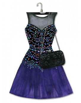 Lady jayne modern a dress die cut note pad bead gem