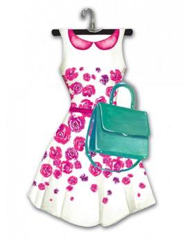 Lady jayne modern a dress die cut note pad white floral