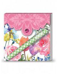 Lady Jayne Matchbook Pad W/Pen - Flora