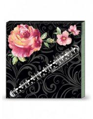 Lady Jayne Matchbook Pad W/Pen - Midnight Rose