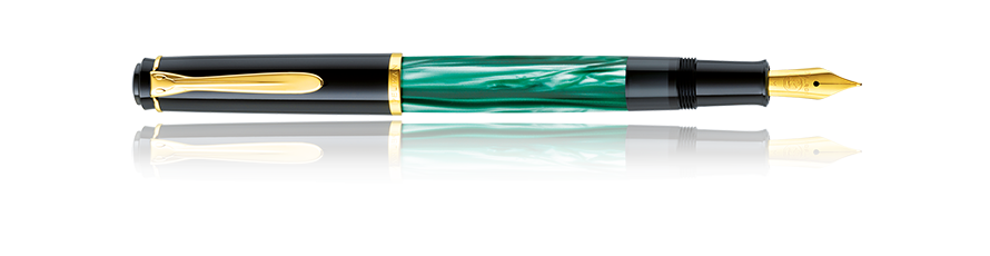 Pelikan M200 Classic Green Marbled Fountain Pen