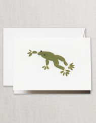 Crane Stationery Brushstrokes Frog Note CF1624