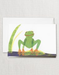 Crane Stationery Cut Paper Frog Note CF1791