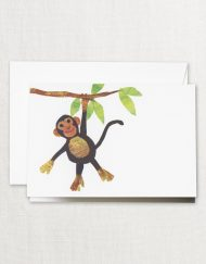 Crane Stationery Cut Paper Monkey Note CF1792