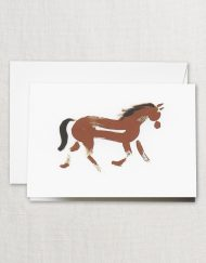 Crane Stationery Brushstrokes Horse Note CF1793