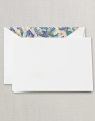 Crane Stationery Blue Florentine Note CF1503
