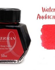 Waterman Fountain Pen Ink Audacious Red 50ml Bottle