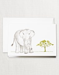 Crane Stationery Brushstroke Elephant Note CF1335