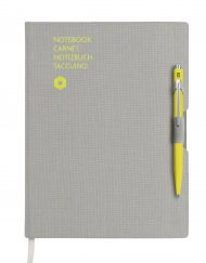 Caran D'Ache 849 BallPen Orange & A5 Blue Notebook