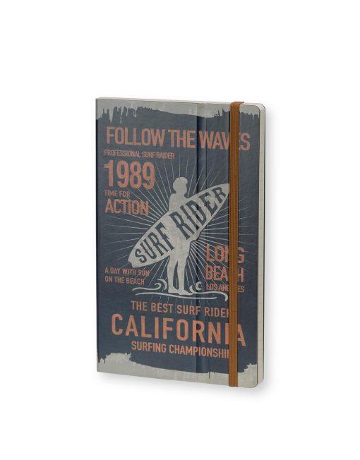 Stifflexible Notebook Surf Rider Long Beach 1989 Blue