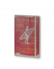Stifflexible Notebook Surf Rider Long Beach 1989 Red