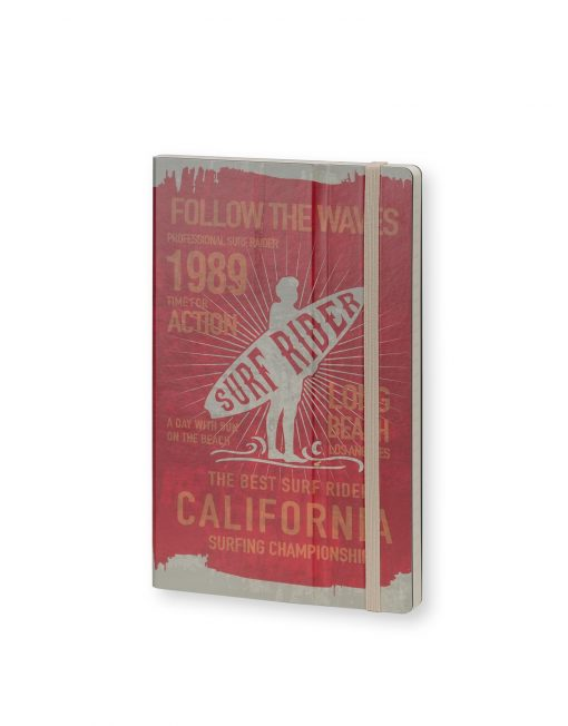 Stifflexible Notebook Surf Rider Long Beach 1989 Red