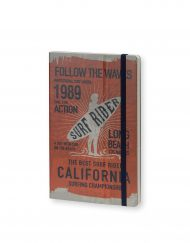 Stifflexible Notebook Surf Rider Long Beach 1989 Orange
