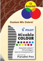 Pilot Parallel Pen Ink Cartridges Mixed