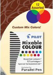 Pilot Parallel Pen Ink Cartridges Mixed
