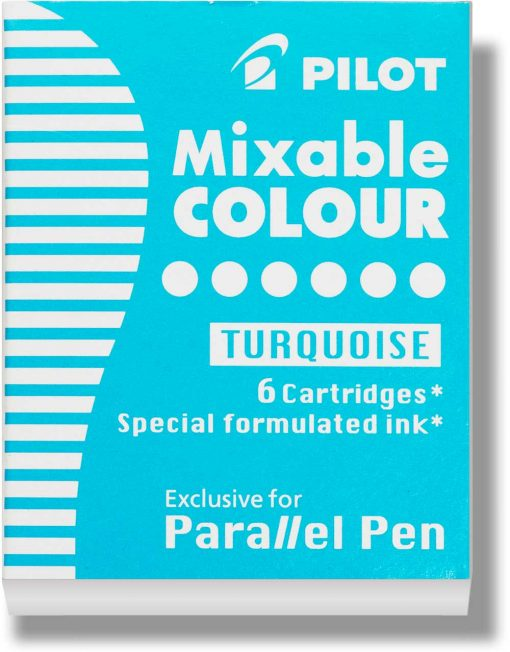 Pilot Parallel Pen Ink Cartridges Turquoise
