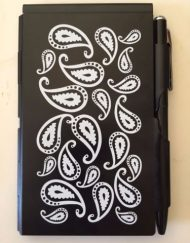 Wellspring Flip Note Blanc Noir Paisley # 2273