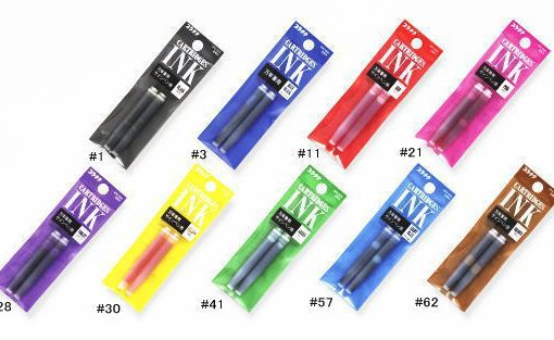Platinum Fountain Pen Ink Cartridges 2-pack