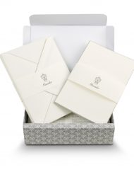 Pineider Stationery Capri Ribbon White/Grey