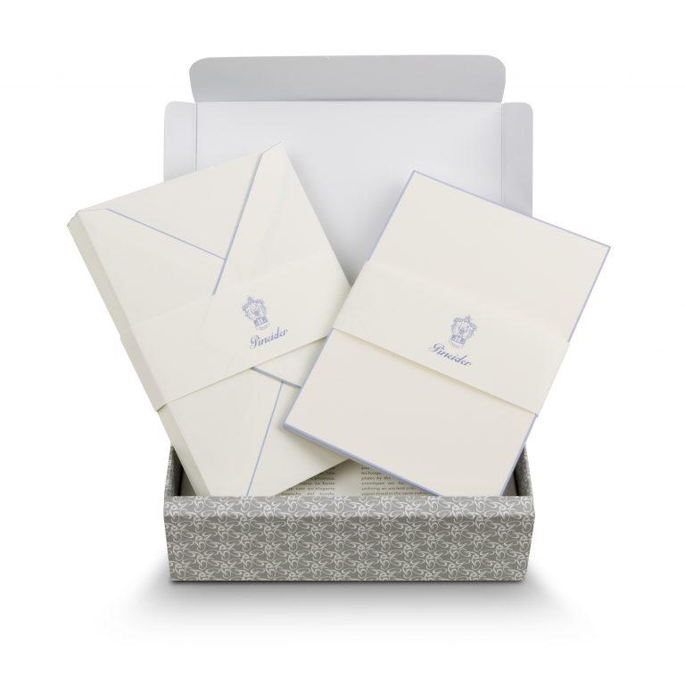 Pineider Stationery Capri Ribbon White/Lilac