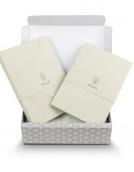 Pineider Stationery Florentia Ribbon Grey