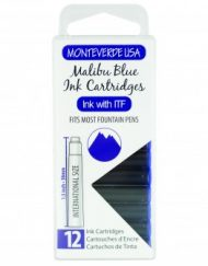 MonteVerde 12-pack Ink Cartridges Malibu Blue