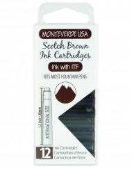 MonteVerde 12-pack Ink Cartridges Scotch Brown