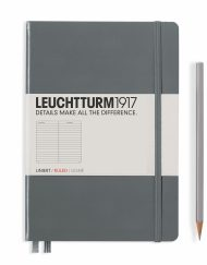 Leuchtturm1917 A5 Notebook Anthracite Ruled