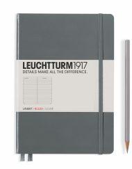 Leuchtturm1917 A5 Notebook Anthracite Ruled