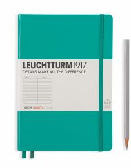 LEUCHTTURM1917 A5 NOTEBOOK EMERALD RULED
