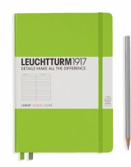Leuchtturm1917 A5 Notebook Lime Ruled