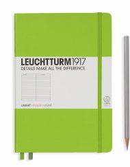 Leuchtturm1917 A5 Notebook Lime Ruled