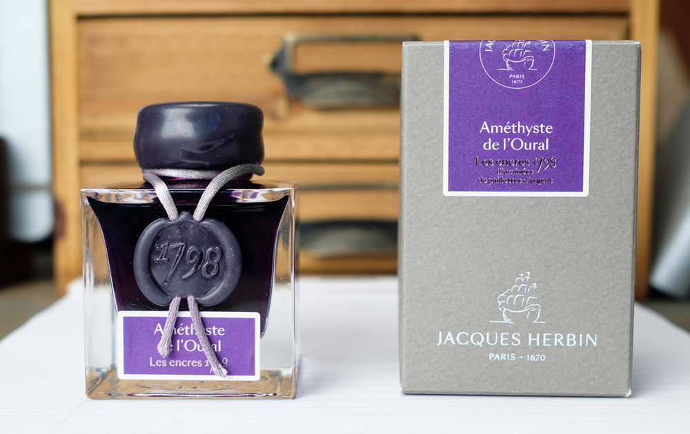 Jacques Herbin 1798 Ink, 50ml Reference # H155/79 Hand-dipped Wax Seal Cap