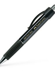 FABER-CASTELL GRIP PLUS BALLPOINT PEN BLACK METALLIC