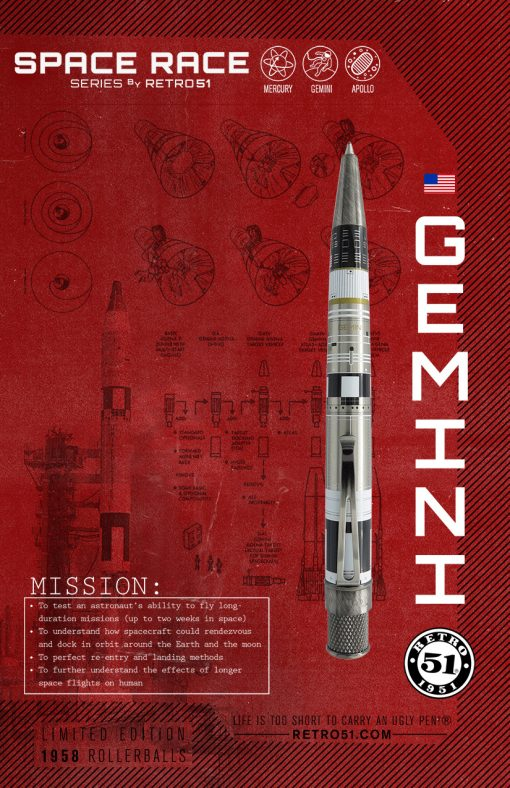 RETRO 51 SPACE RACE GEMINI TORNADO LTD. ED. PEN