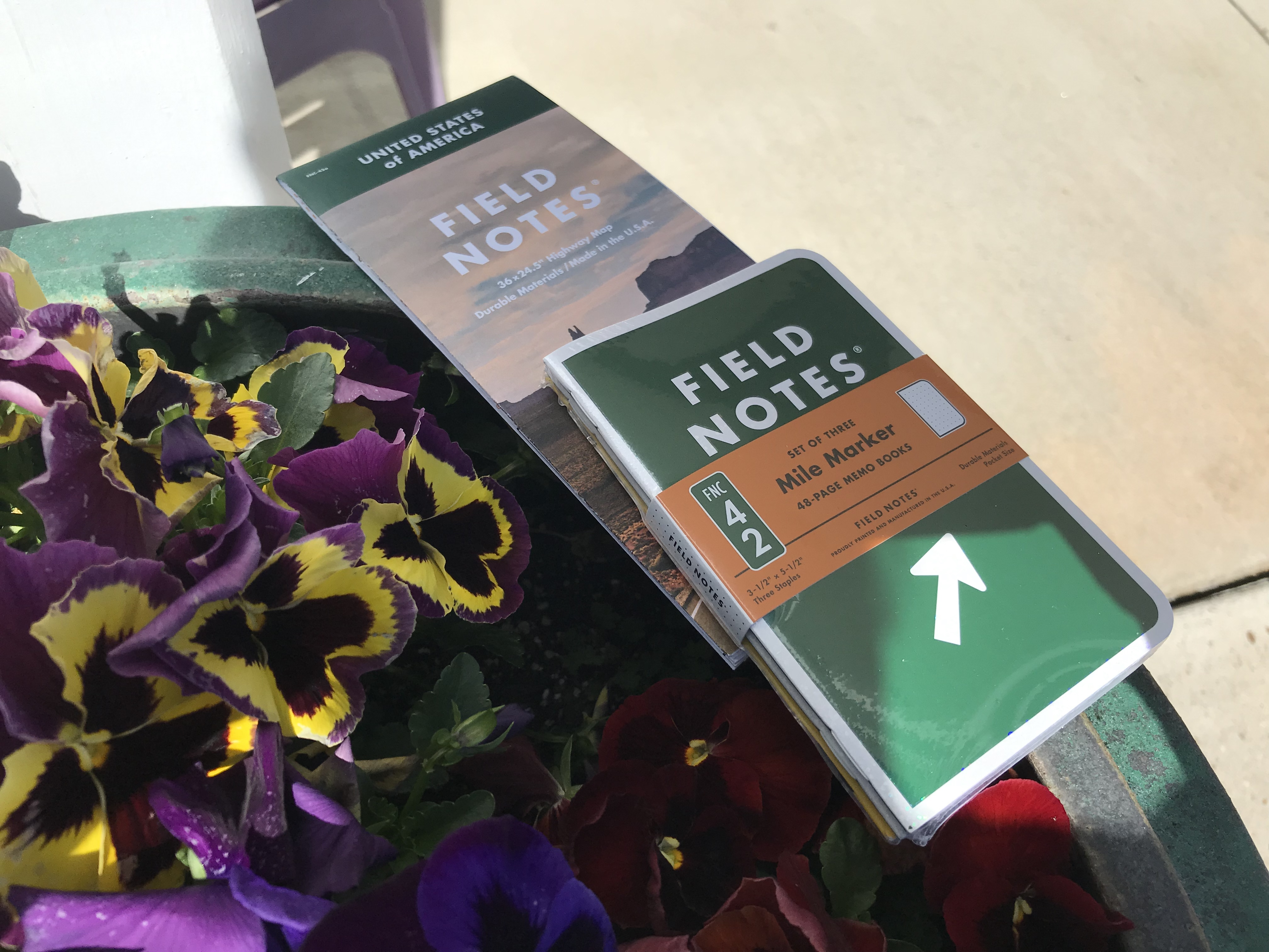 FIELD NOTES MILE MARKER AND MAP