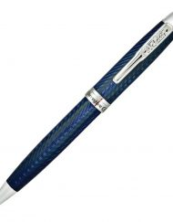 CONKLIN HERRINGBONE NAVY BLUE BALLPOINT PEN