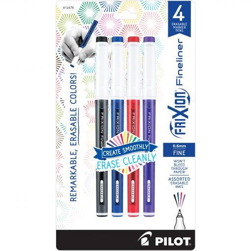 PILOT FRIXION FINELINER 4-PACK