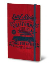 STIFFLEXIBLE NOTEBOOK ADVENTURE RED