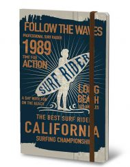 STIFFLEXIBLE NOTEBOOK SURF RIDER BLUE