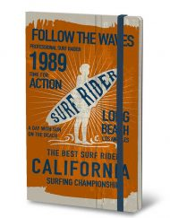 STIFFLEXIBLE NOTEBOOK SURF RIDER ORANGE