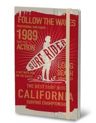 STIFFLEXIBLE NOTEBOOK SURF RIDER RED