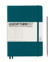 LEUCHTTURM1917 A5 NOTEBOOK PACIFIC GREEN DOTTED