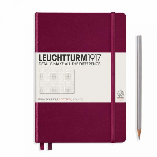LEUCHTTURM1917 A5 NOTEBOOK PORT RED DOTTED