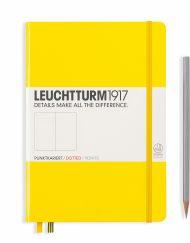 LEUCHTTURM1917 A5 NOTEBOOK LEMON DOTTED