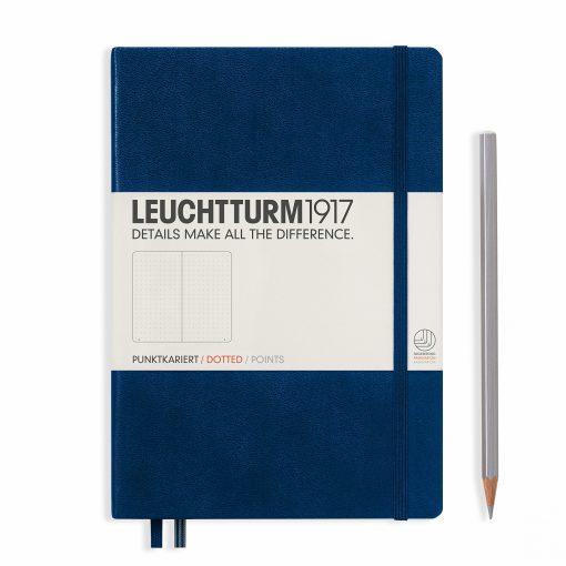 LEUCHTTURM1917 A5 NOTEBOOK NAVY DOTTED